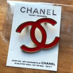 Red Chanel Pin